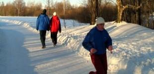 Běžecký trénink v zimním období