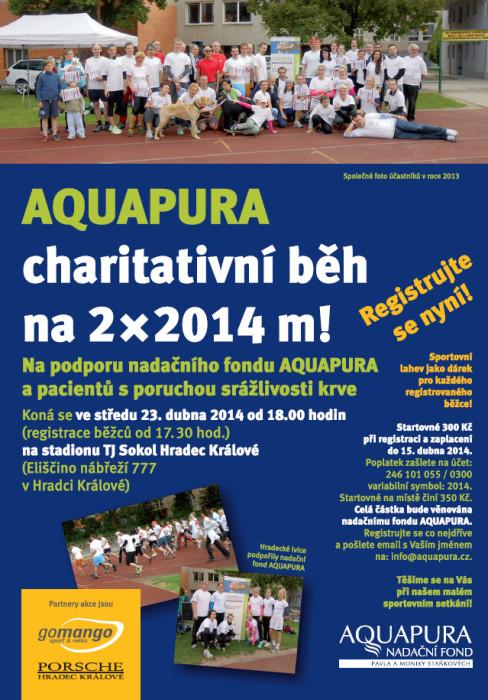 Charitativní běh na 2x2014 m v Hradci Králové – 23. 4.