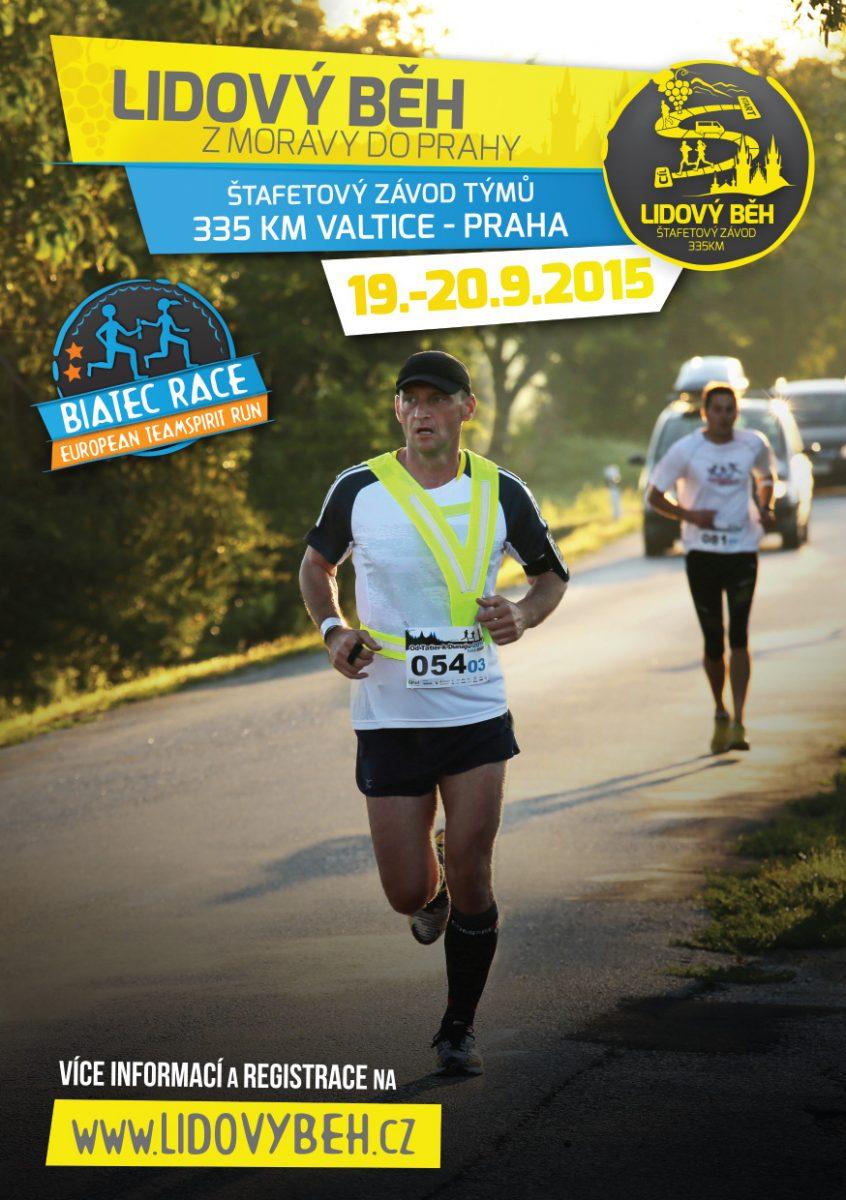 Lidový běh z Moravy do Prahy – 19. 9.–20. 9. 2015.
