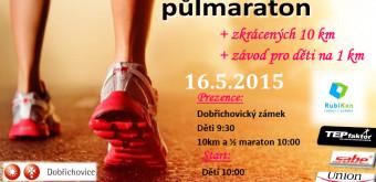 3. Dobřichovický kros půlmaraton, 10 km a  1 km pro děti – 16. 5. 2015