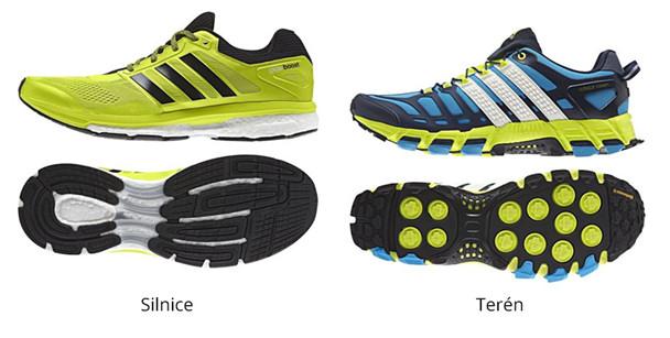 Bězecké boty - silnice, terén