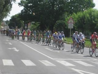 Pelotón 5. etapy cyklistických pretekov Okolo Slovenska 2015 zvečnila na Rybníkovej ulici v Trnave fotoreportérka Marta Országhová.