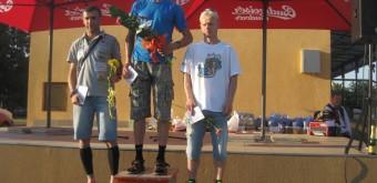 3. Traja najrýchlejší muži absolútneho poradia, zľava: strieborný Gabriel Švajda, zlatý Slavomír Košík a bronzový Dušan Tomčal.