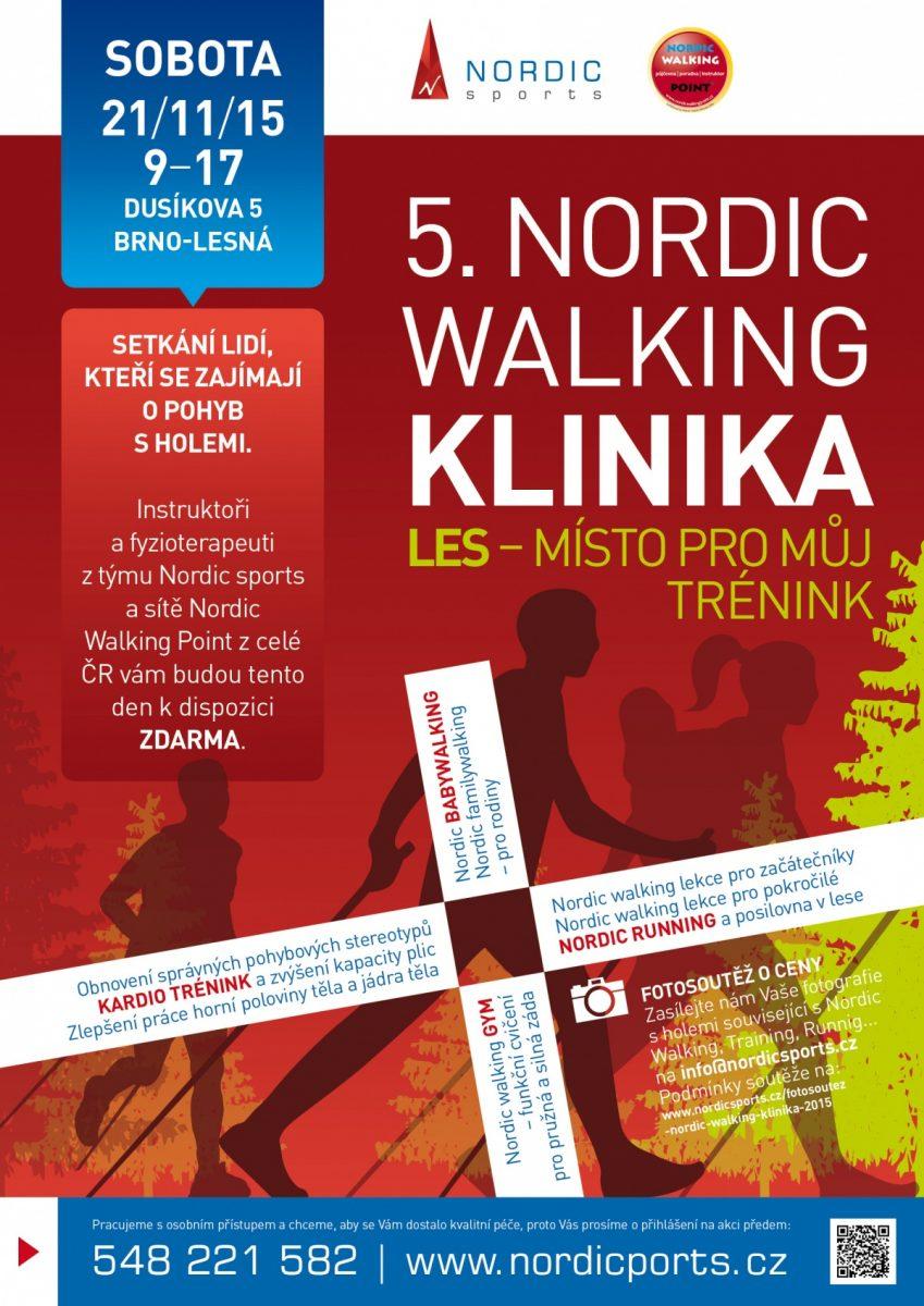 """5. ročník """"Nordic Walking Kliniky"""" akce – 21. 11. 2015"""