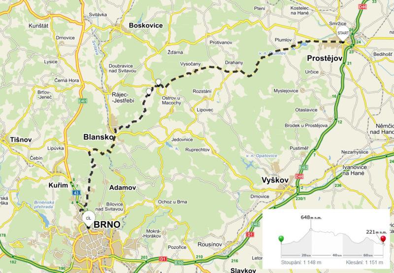 Cyklovýlet: Prostějov – Brno