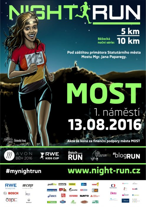 Night Run Most – 13. 8. 2016