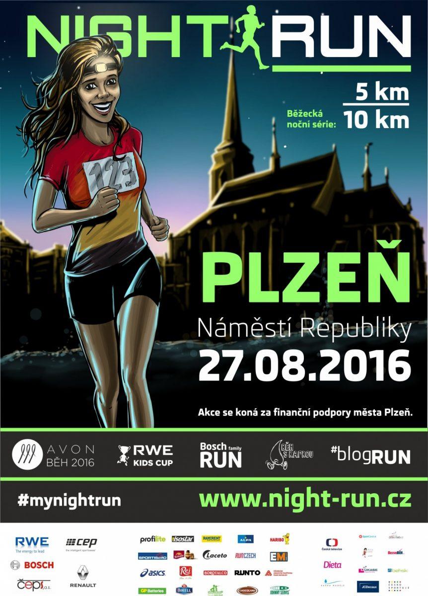 Night Run Plzeň – 27. 8. 2016