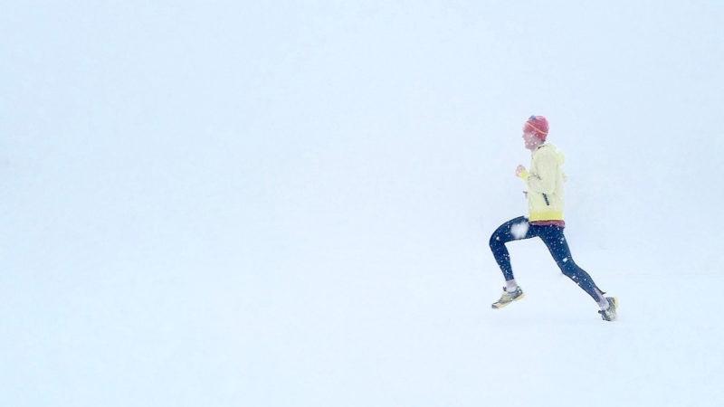 Běhání ve sněhu a ledu