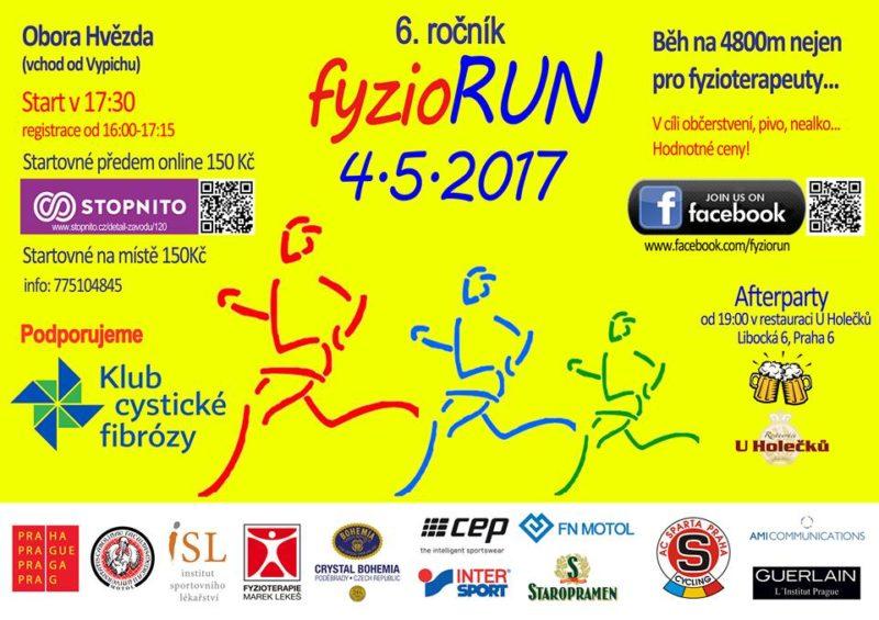 6. ročník fyzioRun – 4. 5. 2017