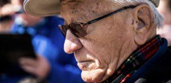 Rozhodcovským nestorom vytrvalostných behov je Trnavčan Karol Duffek (* 3. 6. 1933). Tiež pri Špačinskom trojuholníku mu pravidelne patrí rola hlavného arbitra. Foto Petra Bašnáková.