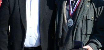 Kozmonaut Vladimír Remek (vľavo) a zakladateľ M-10 Jaro Lieskovský.