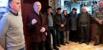 Trnava 14. 2. 2018: Otvorenie sviatočného popoludnia, K. Lipovský je prvý zľava.