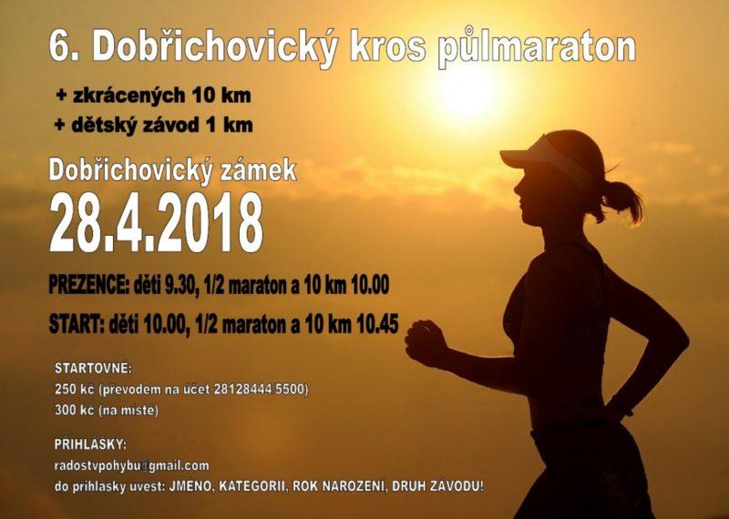 6. Dobřichovický kros půlmaraton – 28. 4. 2018