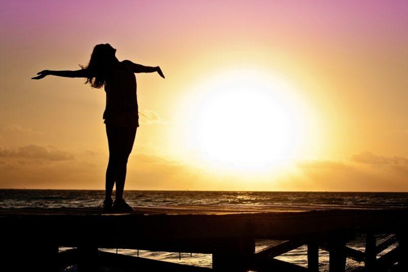 ranní běhání, při východu slunce