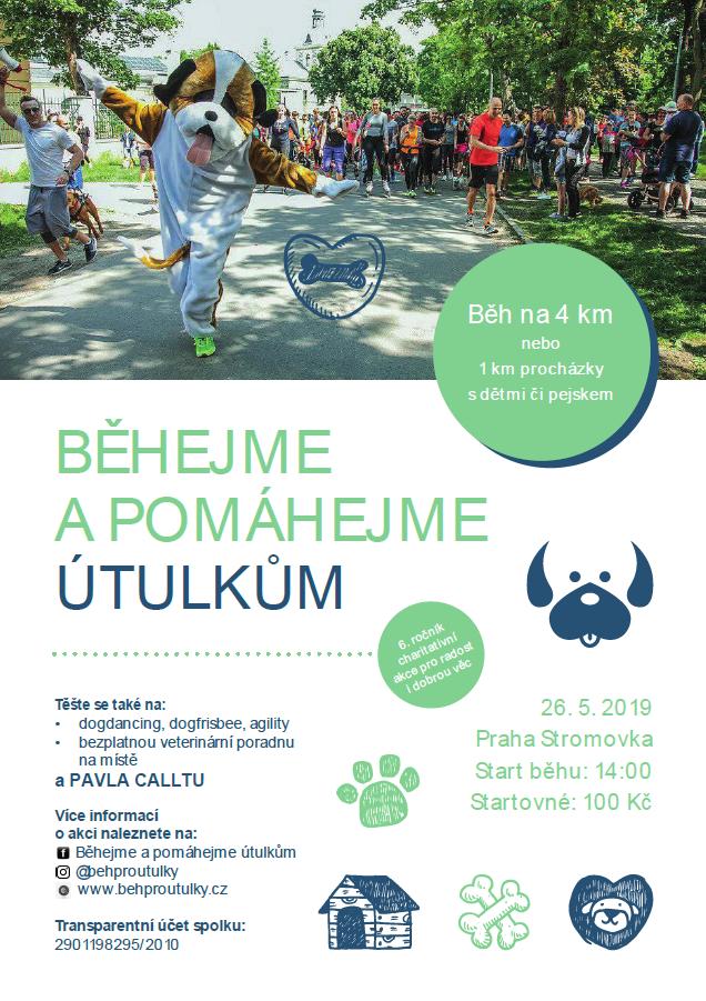 6. ročník Běhejme a pomáhejme útulkům, 2019