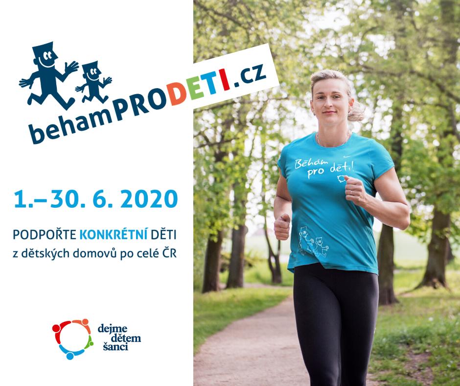 Zapojte se do sportovně-charitativní akce Běháme pro děti 2020, probíhá do 30. června.