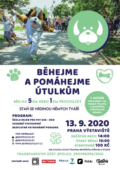 Běhejme a pomáhejme útulkům 2021