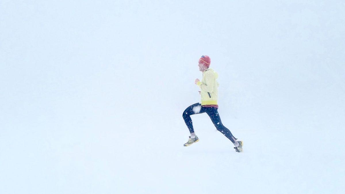 Běžec v zimě, Zdroj: Unsplash