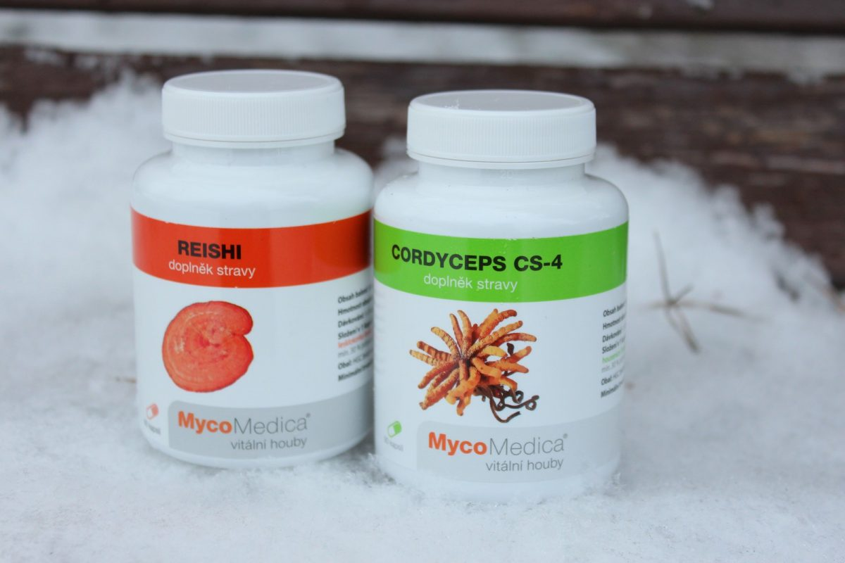 cordyceps a reishi ve formě doplňků stravy
